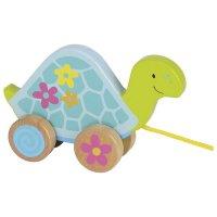Goki Ziehtier Schildkröte Susibelle Kollektion Nachziehtier Lauf Schnur Holzspielzeug