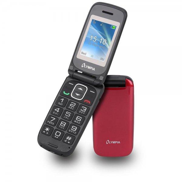 Olympia Classic Mini II Großtasten-Mobiltelefon Rot Farb-LCD-Display Grosstastenhandy Seniorenhandy