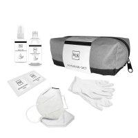 blnk Hygiene-Set - KN95 Masken, Vinyl Handschuhe, Desinfektions-Handgel, Desinfektions-Spray, Tücher