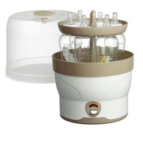 H+H BS 29 elektronischer Dampf-Sterilisator - 6 Babyflaschen Sterilisator 98923