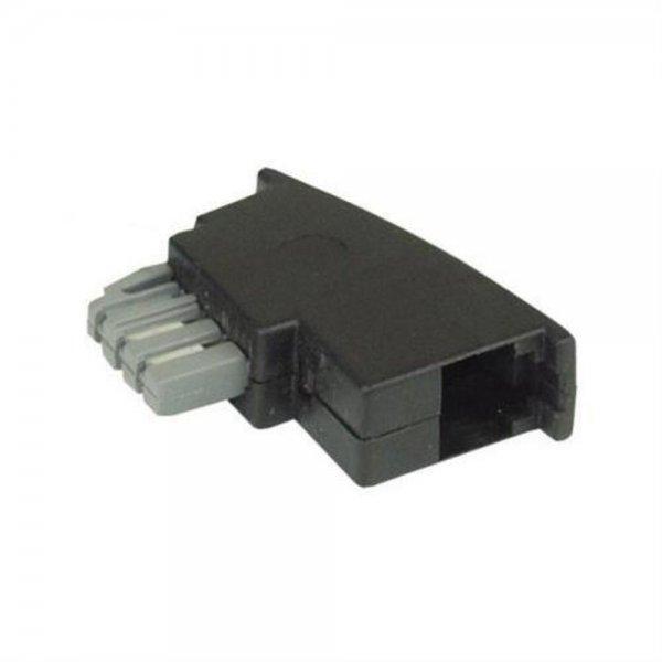 InLine TAE-F Adapter Stecker zu RJ11 Buchse für Modularkabel in TAE Dose Telefon Anschlussstecker