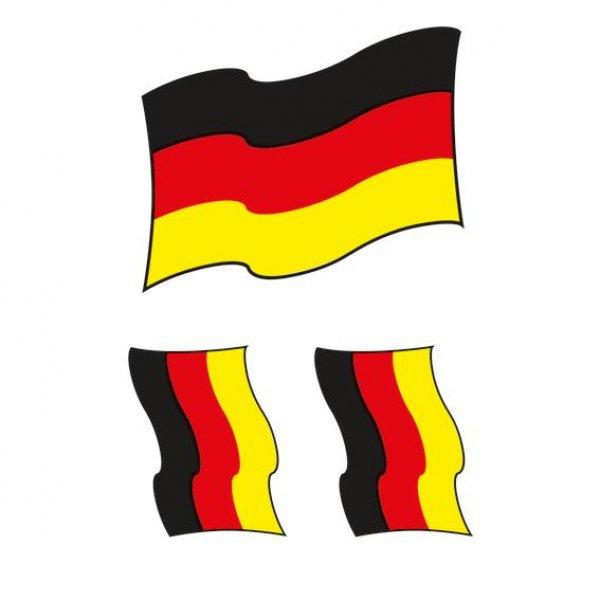 HERMA 15029 Bügelbilder Deutschlandfahne, 3 Stück