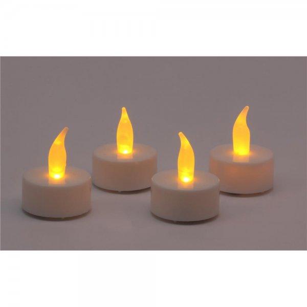 IOIO LED 94 LED Teelichter 4er Set Licht Kerzenflacken Teelicht 4 Stück rußfrei