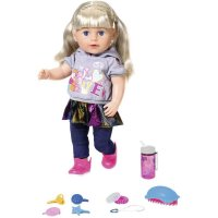 Baby Born 824603 Soft Touch Sister Schwester Puppe blond 43 cm bunt