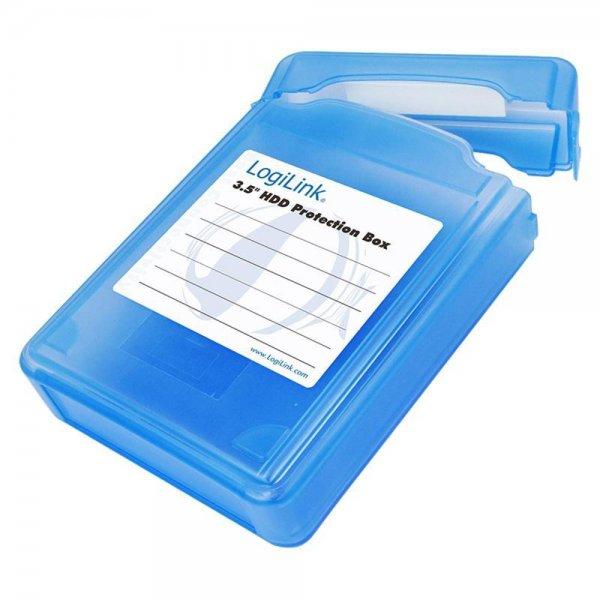 """LogiLink Festplatten Schutz-Box für 3,5"""" HDDs Blau"""