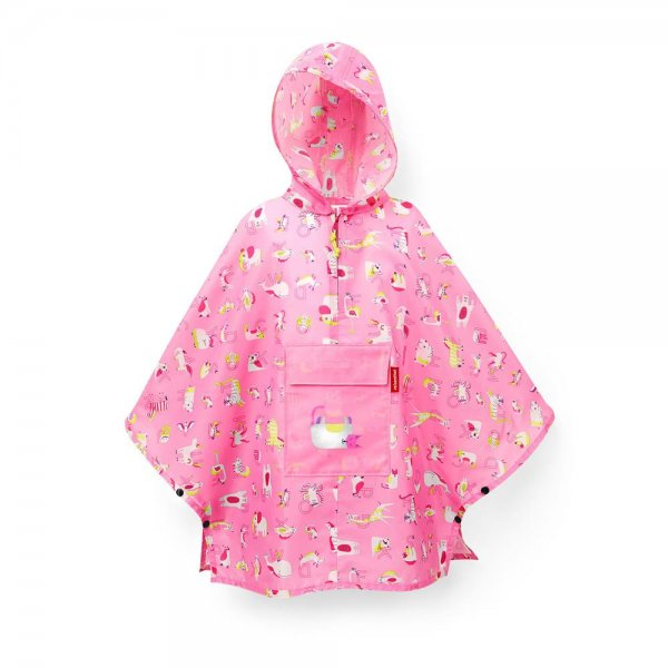 reisenthel mini maxi poncho kids abc friends pink Regenponcho Regencape Kinderponcho