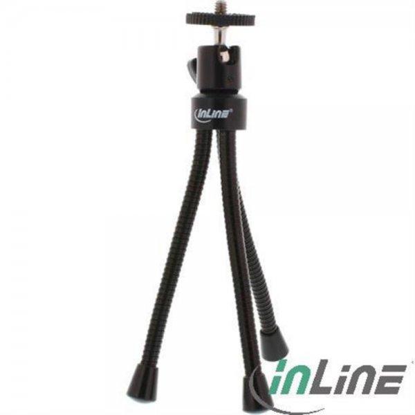 InLine ® Mini-Stativ 190mm mit Kugelkopf, flexible schw
