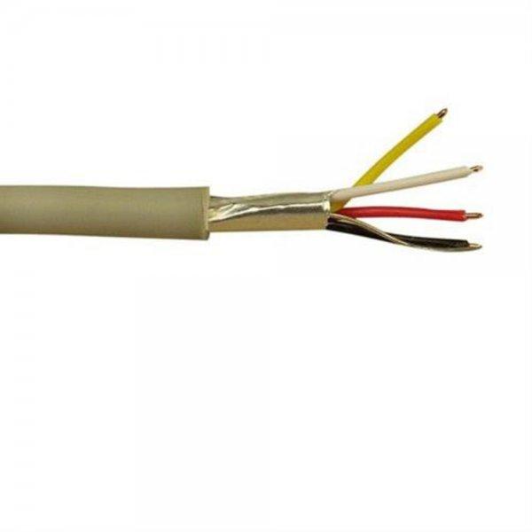 InLine Telefon-Kabel 4-adrig 100m zum Verlegen Beige