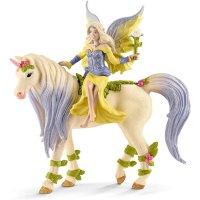 Schleich 70565 - Sera mit Blüten-Einhorn Spielfigur Fantasy Bayala