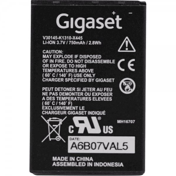 Gigaset PRO Ersatzakku Li-Ionen Telefon-Ersatzteil Batterie/Akku