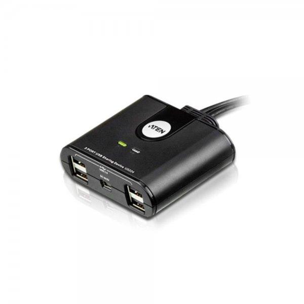 ATEN #US224 USB 2.0-Peripheriegeräte-Switch mit 2 Ports (KVM)