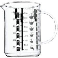 WMF Messbecher 1 L Gourmet aus hitzebeständigem Glas