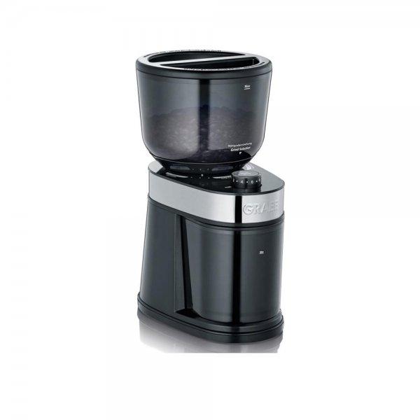 Graef elektrische Kaffeemühle CM 202 Schwarz Espressomühle Scheibenmahlwerk 130W