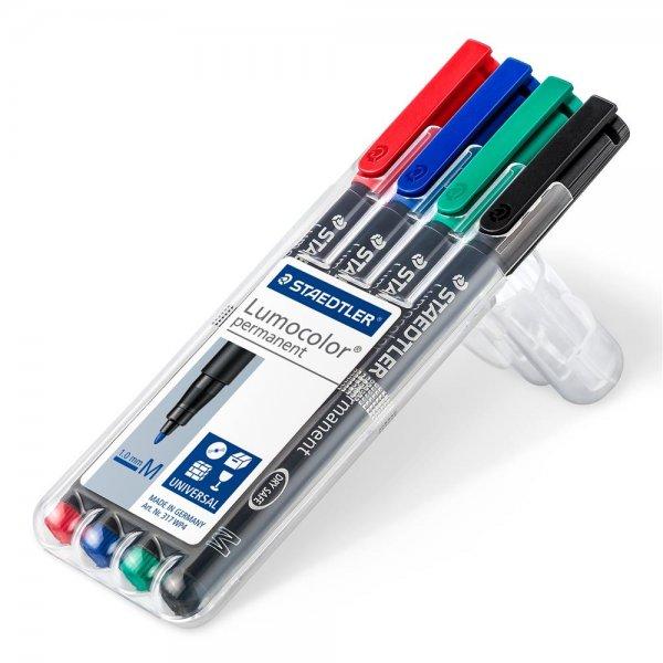 STAEDTLER Folienstift Lumocolor permanent pen 317 Box 4 Universalstifte sortiert