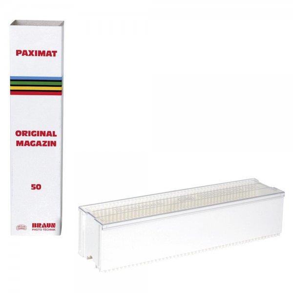 BRAUN Paximat Diamagazin für 50 Dias 2-3,2 mm Stärke weiß
