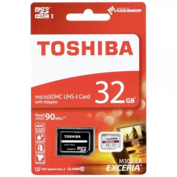 Toshiba microSDHC Class 10 32GB Exceria M302 UHS I + Adapter