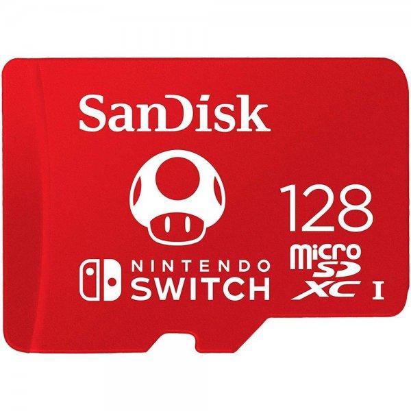 SanDisk MicroSDXC 128GB lizenzierte Speicherkarte für Nintendo-Switch-System bis zu 100MB/Sek