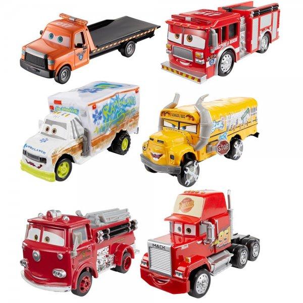 Mattel Disney Pixar Cars 3 Deluxe Fahrzeug Spielzeugauto   1 Stück zufällig   B-Ware