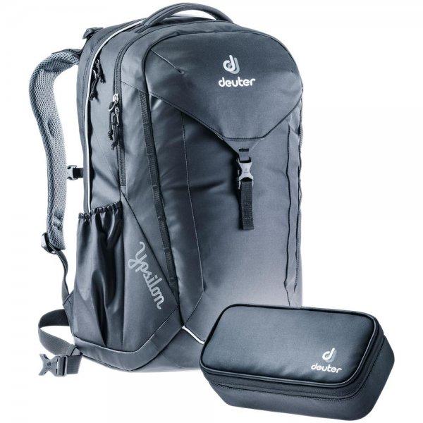 Deuter Ypsilon Set Schulrucksack Schulranzen mit Pencil Case simply black Ranzen Rucksack schwarz