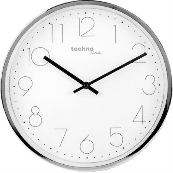 Technoline WT 7210 Wanduhr Silber 25 cm Modern Quarzuhr