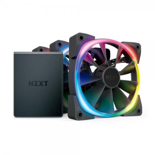 NZXT Aer RGB 2 Starter Kit LED PWM Lüfter 3x 120mm + HUE 2-Beleuchtungssteuerung