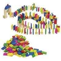 Goki Domino Rallye Bunte Holzklötze Bauklötze Dominosteine Spielzeug Dominospiel