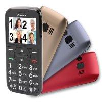 Olympia HAPPY II Großtasten-Mobiltelefon 3 Cover Farb-LCD-Display Grosstastenhandy Seniorenhandy