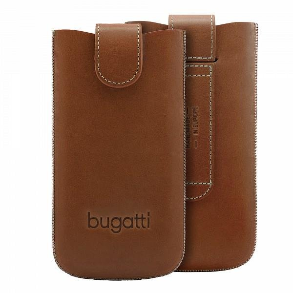bugatti SlimCase York, Universal Size XL, Cognac Braun