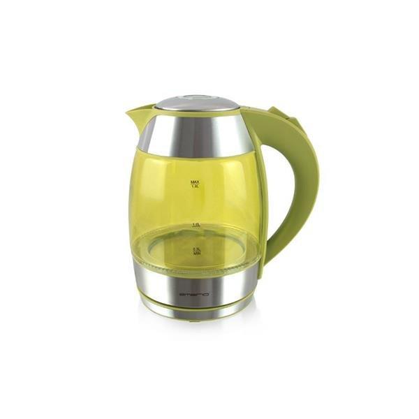Emerio WK-108082.7 Wasserkocher 1,8L Silber Gelb 2200 W