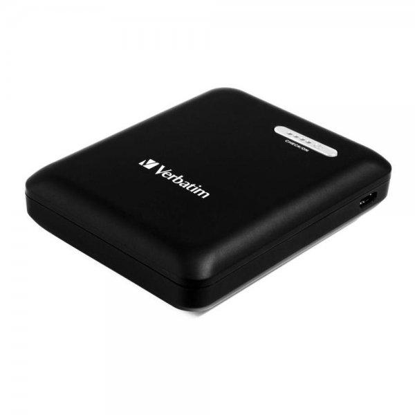 Verbatim 12.000 mAh Powerbank Dual USB Externer Akku Power Pack zwei Eingänge