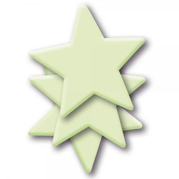 HERMA 15020 Leuchtsticker Sterne groß ablösbar & wieder verwendbar für Kinder