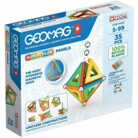 Geomag Supercolor Panels 35 Teile Magnetbausteine Magnetisches Konstruktionsspielzeug ab 5 Jahren