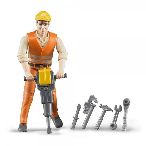 Bruder, Spielfigur, Bauarbeiter mit Zubehör, Spielzeug, NEU