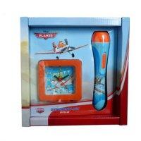 Technoline Planes Set - Dusty 2 Wecker + LED Taschenlampe Disney Jungen Flugzeug