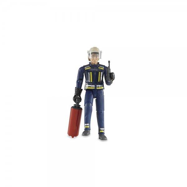 Bruder, Spielfigur, Puppe, Feuerwehrmann mit Helm, Spielzeug, NEU
