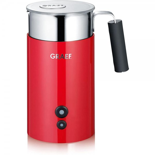 GRAEF Milchaufschäumer MS 703 Rot Edelstahl Profi Milchkännchen Milchschäumer Barista-Qualität