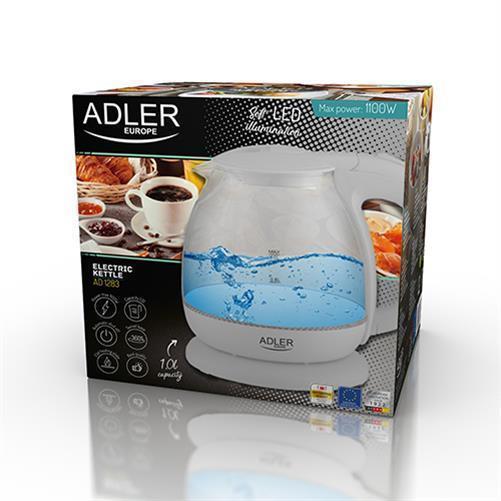 Indexbild 6 - Adler AD 1283G Glas Wasserkocher 1 L LED Beleuchtung Krug Optik Design kabellos