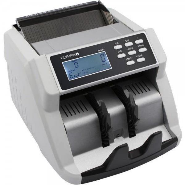 Olympia NC 570 Geldscheinprüfgerät Geldzählgerät 1.000 Noten/Min Geld Zählerautomat LCD Display