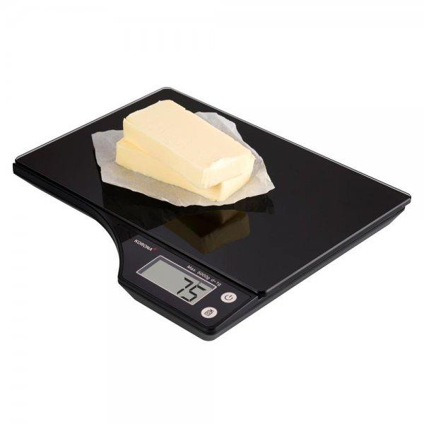 KORONA Digitale Küchenwaage FARINA Schwarz elektronische Haushaltswaage 5kg LCD