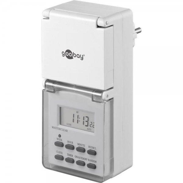 Goobay Zeitschaltuhr Digital IP 44 Spritzwassergeschützt # 16614-B