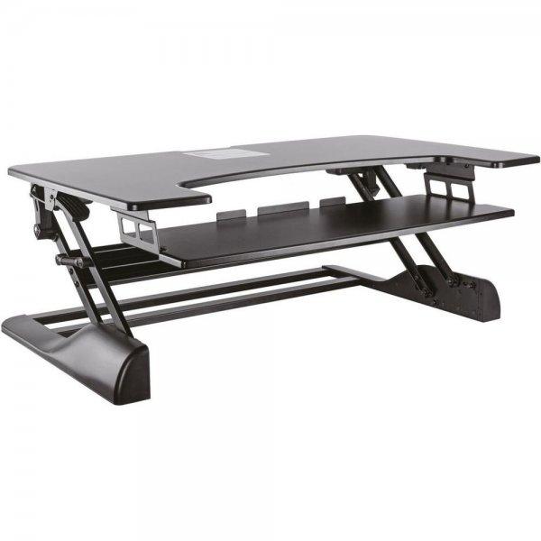 ROLINE Höhenverstellbarer Schreibtischaufsatz schwarz