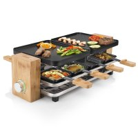Princess Pure 8 Raclette Grill Bambus
