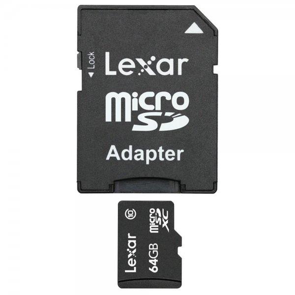 Lexar microSDXC 64GB with SD Adapter Class 10
