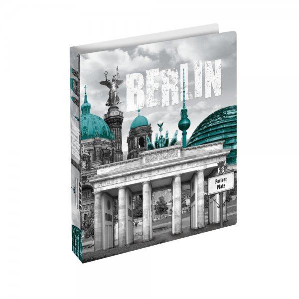 HERMA 19131 Ringbuch DIN A4 Städte Berlin Motiv-Ordner Ringordner Sammelmappe