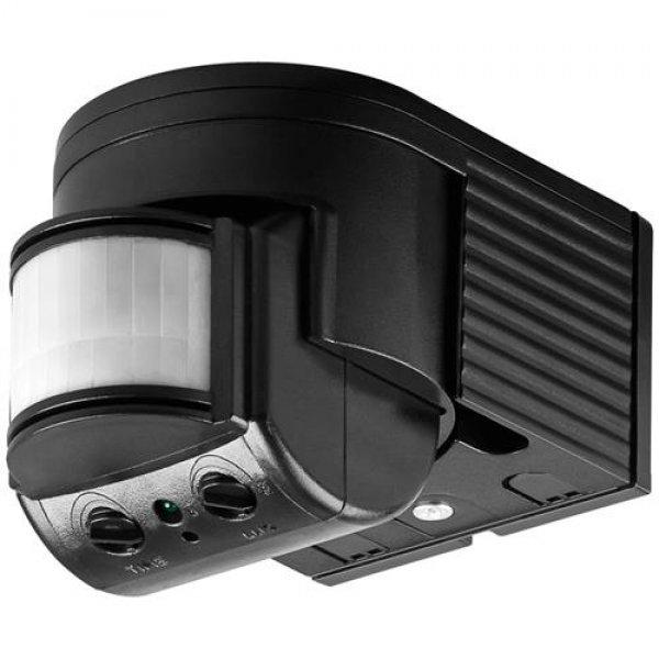 Goobay Bewegungsmelder Infrarot Aufputz ODA schwarz Indoor/Outdoor LED-geeignet