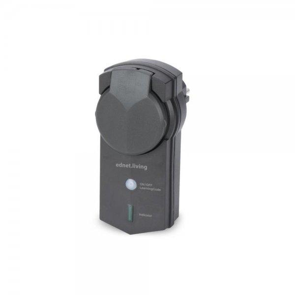 ednet.power Smart Plug Funksteckdose für den Außenbereich Empfängereinheit IP44 schwarz
