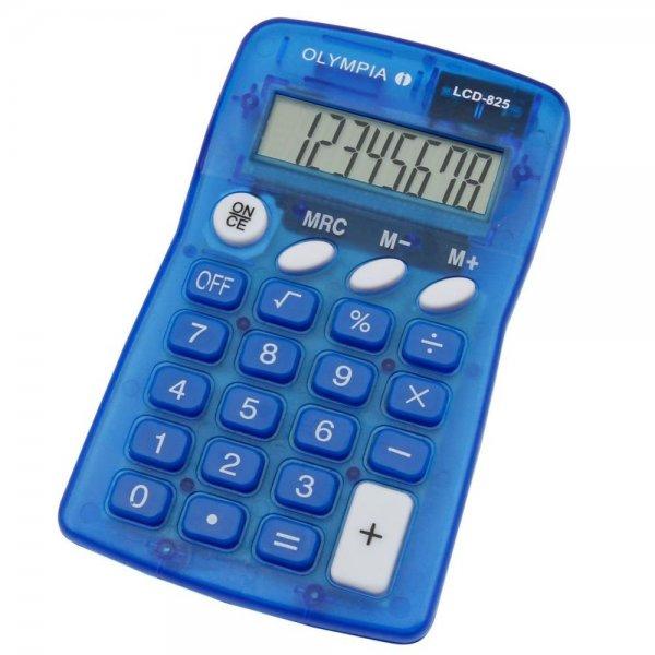 Olympia LCD 825 blau Taschenrechner 8-stelliges Display #4670