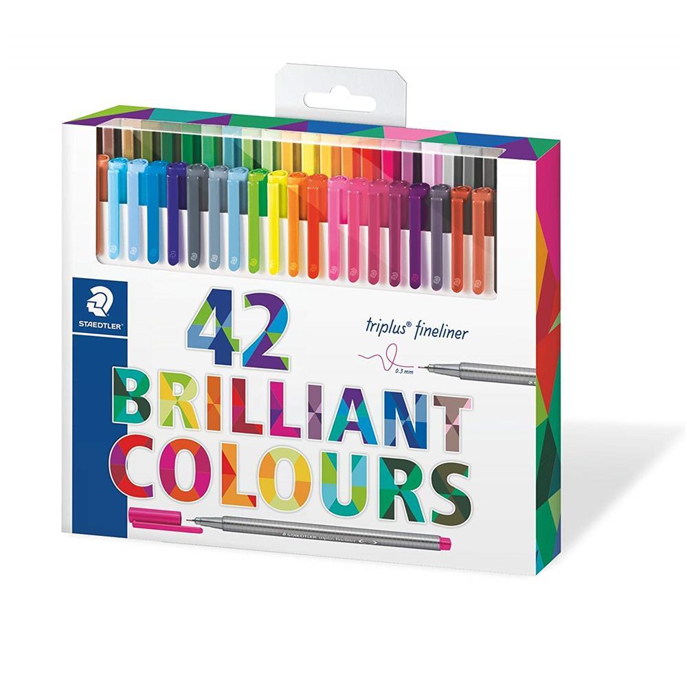 Staedtler - triplus® 42 Dreikantige Fineliner Bunt Farben Tintenfeinschreiber