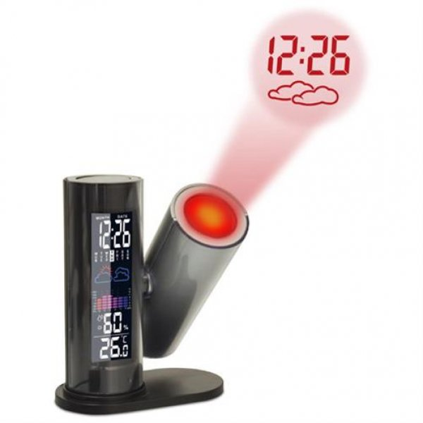 Technoline WT 514 Projektionswecker Temperatur Luftfeuchte Wettervorhersage