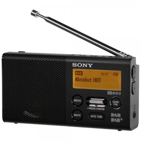 Sony XDR-P1DBPB DAB/DAB+ Taschenradio StereoSoundqualität über Kopfhörer Schwarz